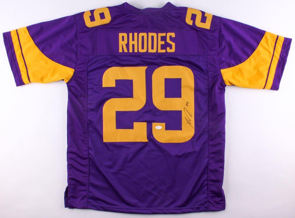 buy popular 5d02a 9ec53 Xavier Rhodes Signed Vikings Color Rush Jersey (JSA COA)