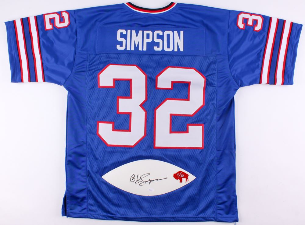 sale retailer ab555 cfd7e O.J. Simpson Signed LE Bills Jersey with Football Panel (JSA ...