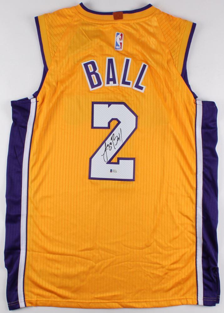 official photos 5c1d8 08b65 Lonzo Ball Signed Lakers Nike Jersey (Beckett COA)