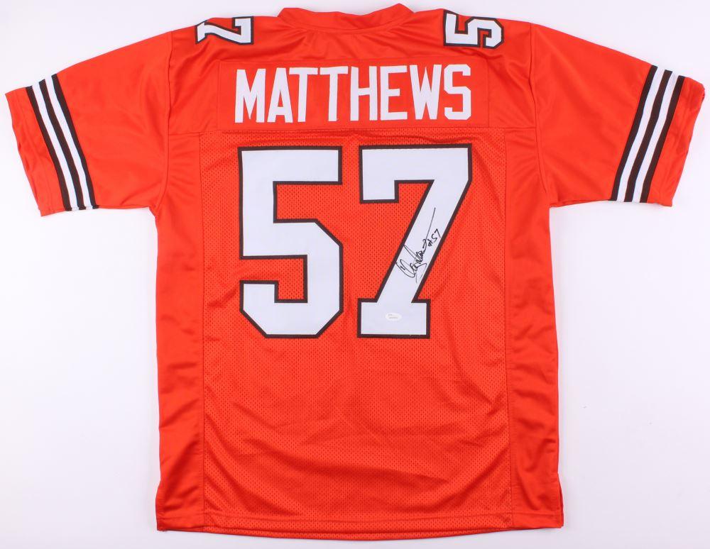 detailed look 99dca fb5e3 Clay Matthews Jr. Signed Browns Jersey (JSA Hologram)