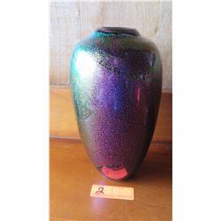 "Luminescent Glass Vase, 12"" Tall"