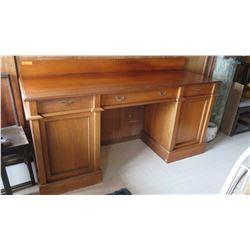 "Large Vintage Wooden Sideboard, Koa? - 6' Length X 25.5"" D X 31"" H"