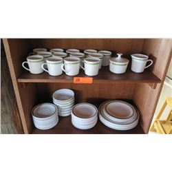 China Set: Plates, Bowls, Saucers, Teacups, Creamer, Sugar, etc., Centura by Corning