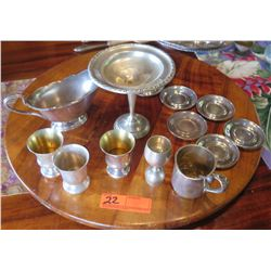 Misc. Silver Serveware (varying silver content, some Sterling, some plated) - Sheffield, etc.