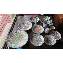 Misc. Rose Medallion Serveware, Various Patterns - Platters, Bowls, etc.