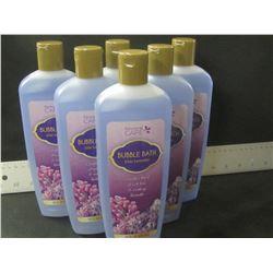 New lot of 6 / 20oz Lilac/Lavander Bubble bath/ Made in Canada