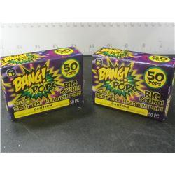2 Box's of 50 each Bang Pops / throw em toss em Big BANG sound