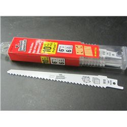 """New Vermont American Swiss Made 6"""" Recip/Sawzall Blades pack of 10"""
