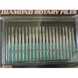 New 20 piece Diamond Rotary Files / 1/8th collet