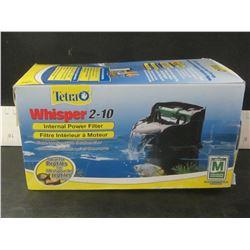 New Tetra Internal Power Filter for 2-10 gallon / Ideal for Reptiles