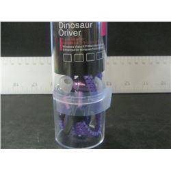 New Dinosaur Driver Metal Zippered Headphones / purple