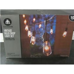 New Vintage Bulb Drop string Light set / TESTED WORKING