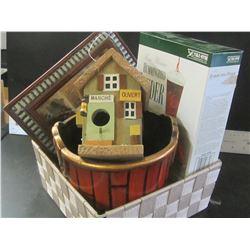 Basket full of Goodies / Hummingbird Feeder / Birdhouse / Shadowbox / pot and