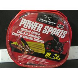 New 10 ft ATV /SLED /BIKE / Booster Cables in carry pouch / excellent for the trails