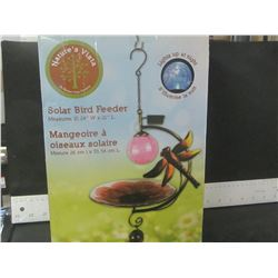 New Solar Bird Feeder