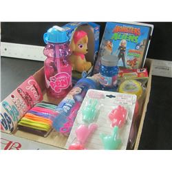 Flat full of Girls items / my little pony / Goody hair clips/bands / Frozen bubble