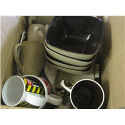 Box full of Estate cups / bowls / plates all in good cond.