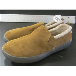 Mens Slippers / Genuine Suede  / non marking sole / Size 9