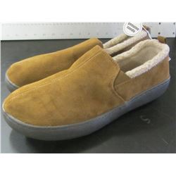 Mens Slippers / Genuine Suede  / non marking sole / Size 11