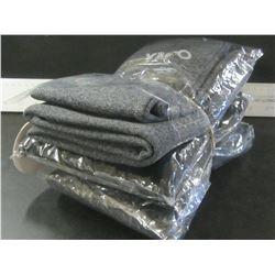 Bundle of 4 Girls fleece lined Leggings / size 10/12 - 2 grey / 2 black