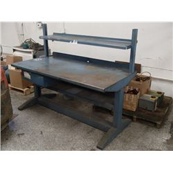 "Heavy Duty Steel Table, Overall: 72"" x 36"" x 58"""