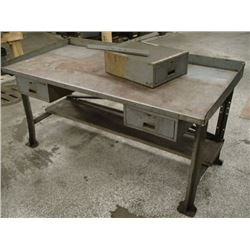 "Heavy Duty Steel Table, Overall: 72"" x 34"" x 36"""