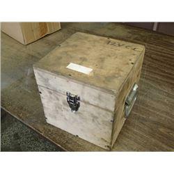 """9"""" x 9"""" x 9"""" Wooden Storage Box with Handles/Locking Latch"""