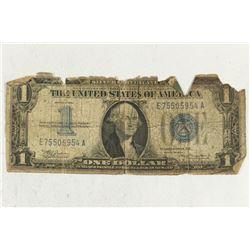 1934 $1 FUNNY BACK SILVER CERTIFICATE (RAG)