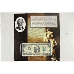 2009 PHILADELPHIA $2 SINGLE NOTE CRISP UNC