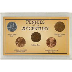 PENNIES OF THE 20TH CENTURY INDIAN HEAD CENT,