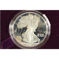 1986-S PROOF AMERICAN SILVER EAGLE