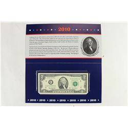 2010 RICHMOND $2 SINGLE NOTE CRISP UNC