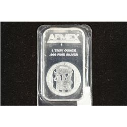 1 TROY OZ .999 FINE SILVER PROOF BAR APMEX