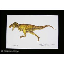 Jurassic Park Lithographic Prints Movie Props