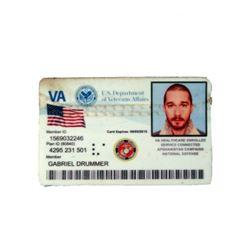 Man Down Gabriel Drummer (Shia LaBeouf) ID Card Movie Props