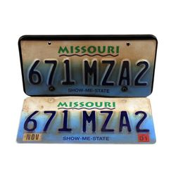 The Good Lie Carrie (Reese Witherspoon) License Plate Movie Props