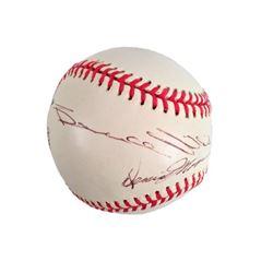 Demi Moore & Bruce Willis Signed Baseball