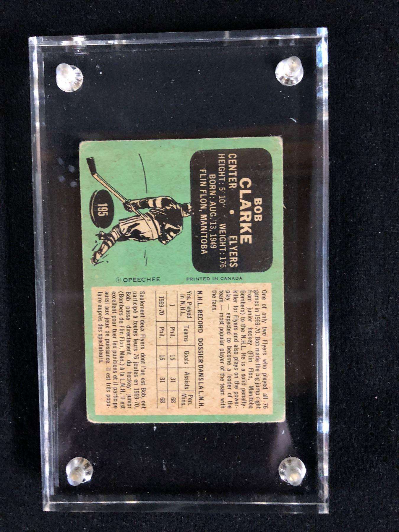 1970-71 OPC #195 BOOBY CLARKE ROOKIE CARD