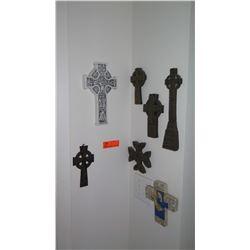 "Assorted Hanging Ankhs, Crosses, etc. (7 pc) - Longest is 11.5"""
