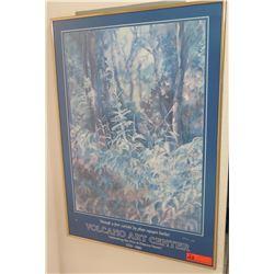 """Framed Volcano Art Center Poster, Original Signature, 34"""" X 24"""""""