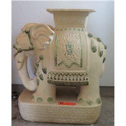 Ceramic Elephant Pedestal, Approx 22' Tall