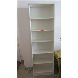 """Tall White Shelving Unit (6 Shelves) 24""""W X 10.5""""D X 77""""H"""