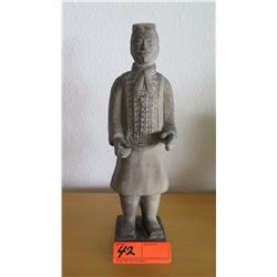 """Stone Soldier Statue, Approx 14"""" Tall"""
