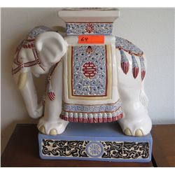"Ceramic Elephant Pedestal, Approx 20"" Tall"