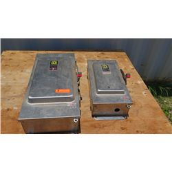 Qty 2 Square D Safety Switches (one 100 AMP & one 200 AMP)