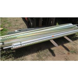 Large Lot of Square/Angle Iron and Metal Pipes/Conduit