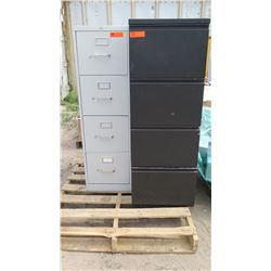 Qty 2 4-Drawer Metal Filing Cabinets