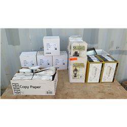 Misc. Boxes of Various Lighting Fixtures