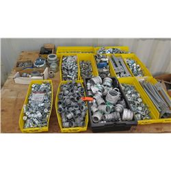 Large Lot of Pipe/Conduit Fittings, Fasteners, Connectors, etc.