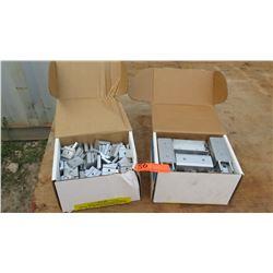 """Box of Rail Channel Nuts (P-CN-200) & Box of Rail Splice (A-SPLICE-20, 1 1/2"""" & 2 1/2"""")"""